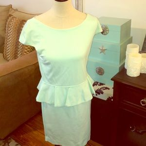 Express mint green peplum dress 12